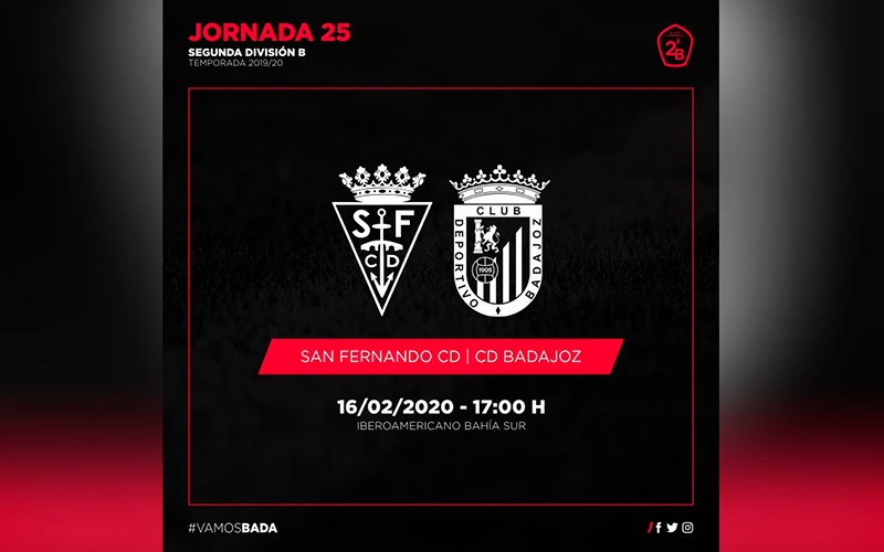San Fernando próximo destino del CD Badajoz