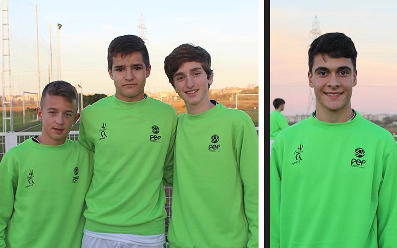 Aitor, Darío, Luca y Raúl Tamudo convocados con la Selección Extremeña