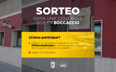 SORTEO CENA PARA DOS EN RESTAURANTE BOCCACCIO
